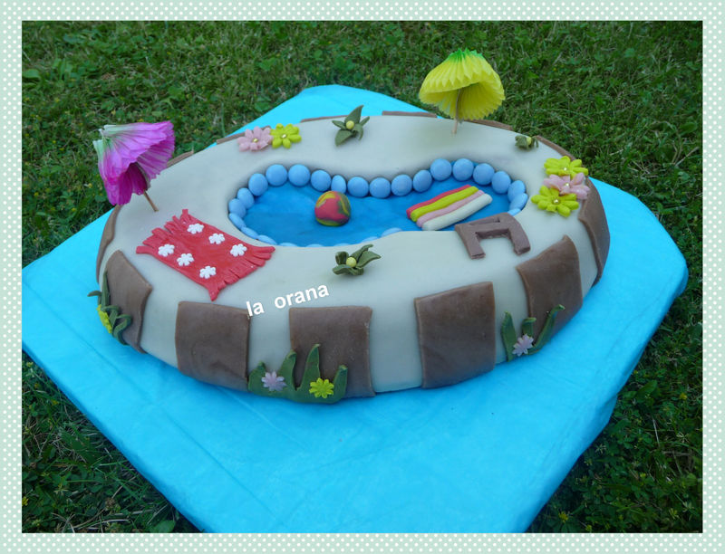Gâteau piscine/Swimming pool cake