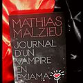 « journal d'un vampire en pyjama » de mathias malzieu