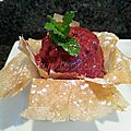 Sorbet express aux fruits rouges dans son petit pot de brick
