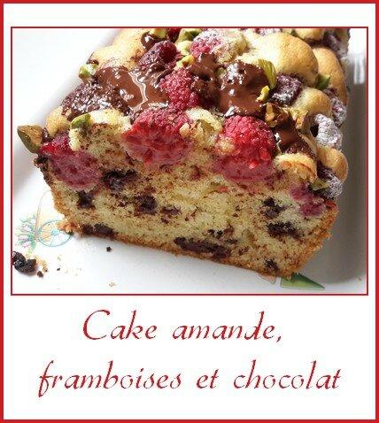 cake amande, framboises et chocolat