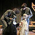 Molière. le médecin volant, la jalousie du barbouillé. théâtre mu. marionnettes.