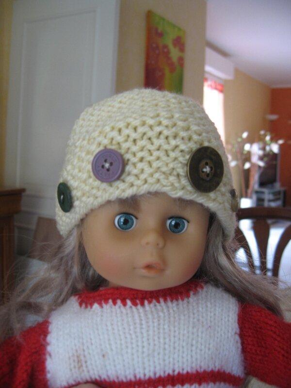 Bonnet pour poupée