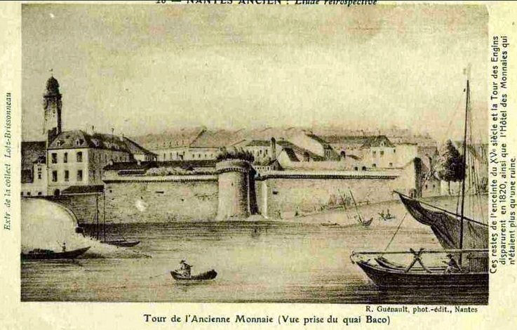 Nantes ancien - Tour de l'Ancienne Monnaie