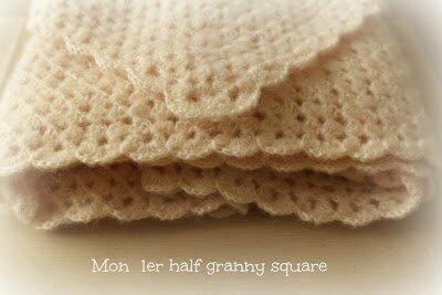Half granny square Mamie