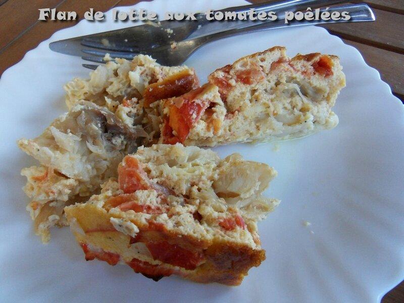 flan de lotte aux tomates poêlées1