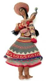 Knitted doll w4265