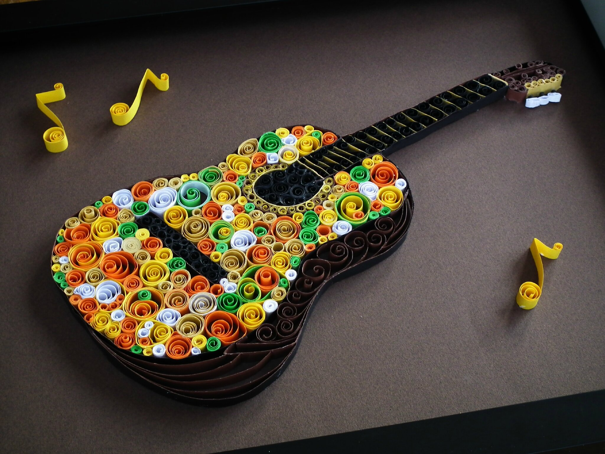quilling une guitare le blog orang de sylvie. Black Bedroom Furniture Sets. Home Design Ideas
