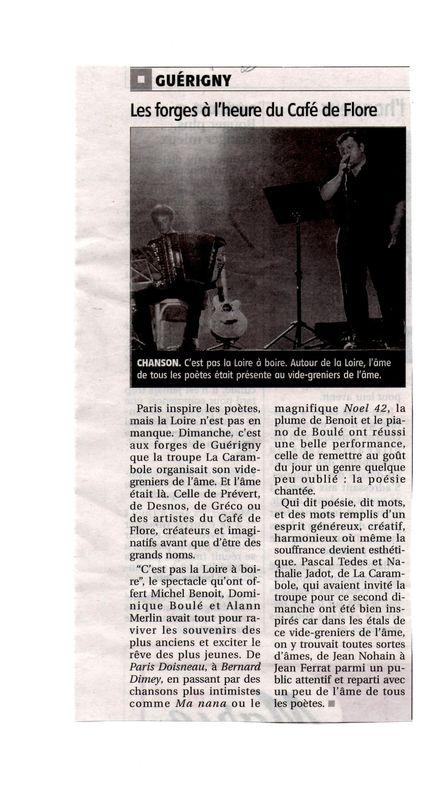 Michel Benoit en spectacle à Guérigny