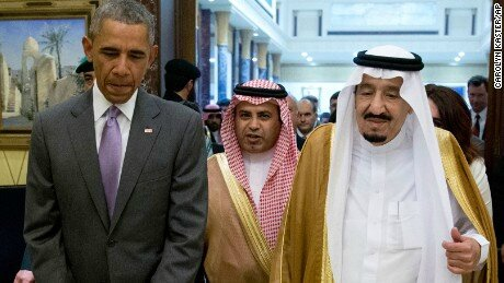 Barack Obama and King Salman