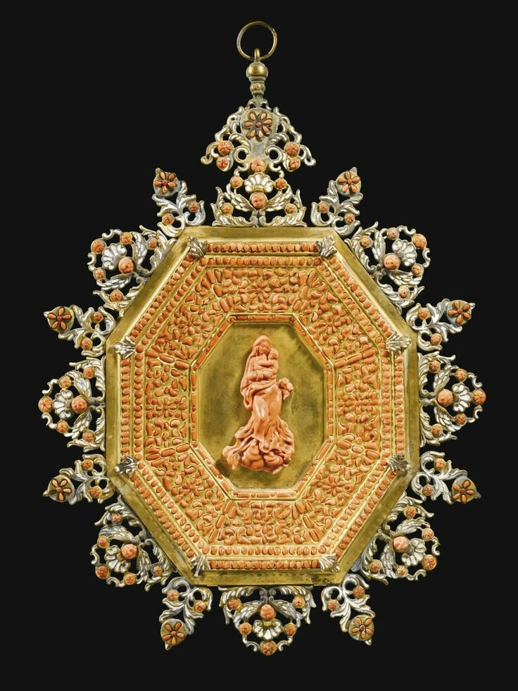 Italian, Trapani, late 17th century-early 18th century, Devotional plaque with the Virgin and Child