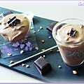 Mousse au chocolat aux pépites caramélisées