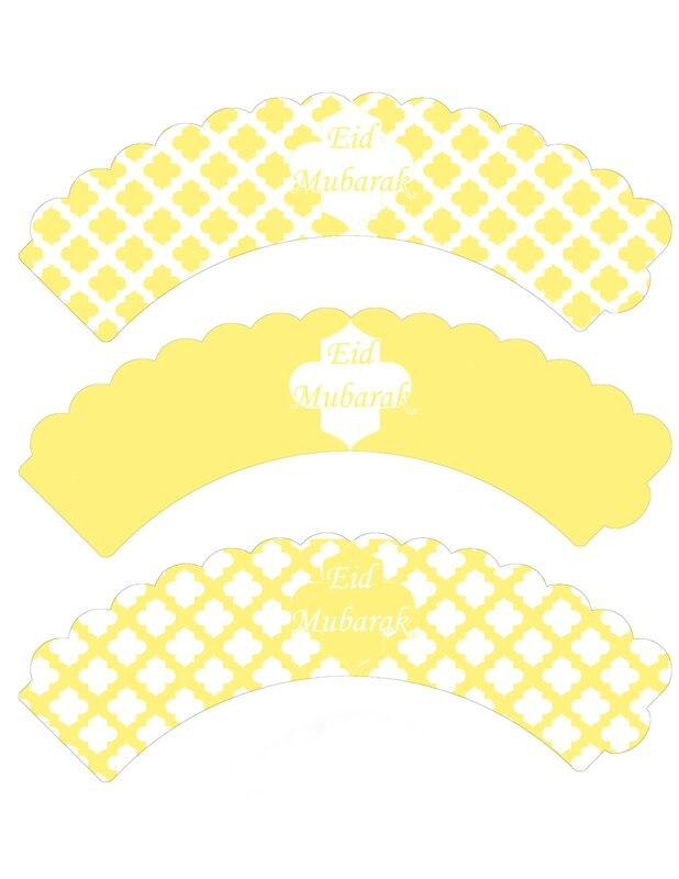 cupcake wrappers jaune