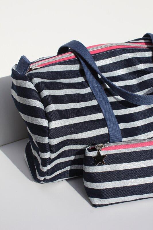 sac polochon rayé