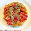 Tatins aux oignons et tomates