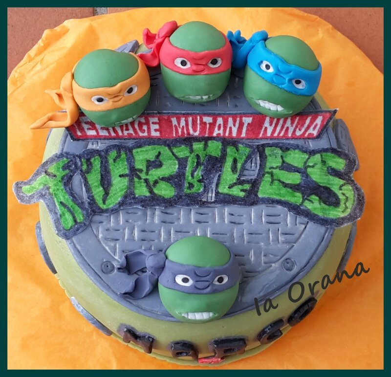 Decoration de gateau tortue ninja