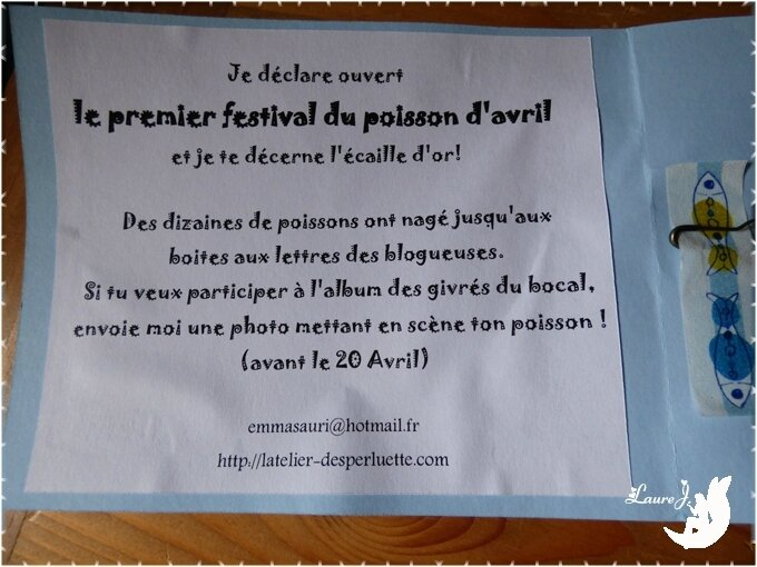 Festival du poisson avril 3