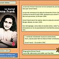 Le journal d'anne frank - anne frank, une petite fille juive.