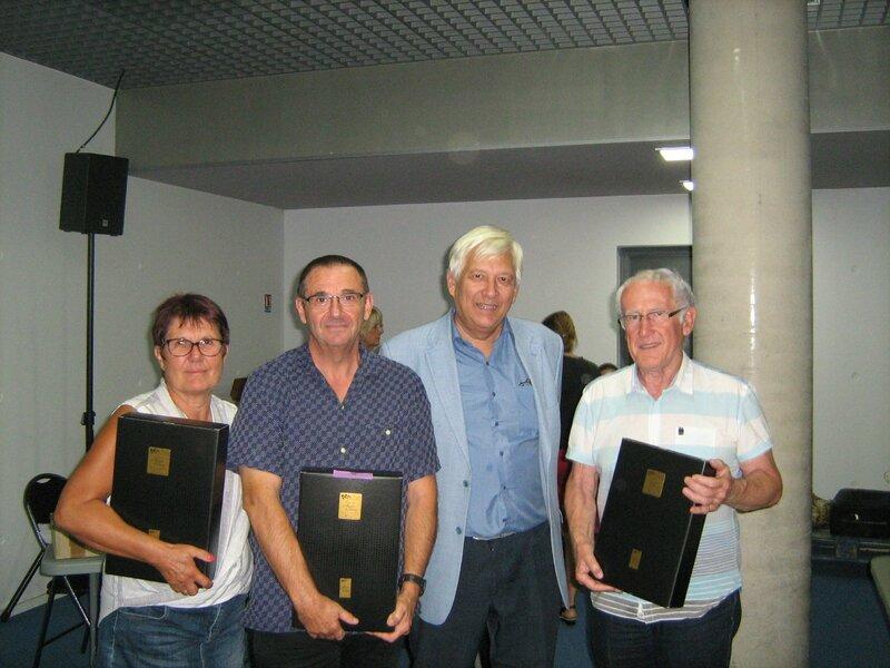Podium du championnat régional avec l'adjoint au maire d'Antibes Audouin Rambaud