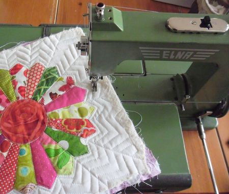 quilting my craftsy BOM !