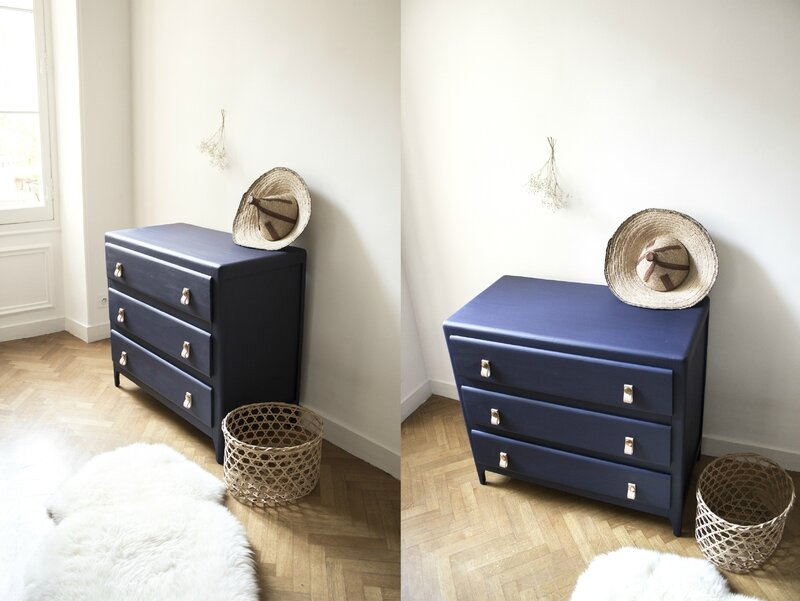Commode vintage bleu franc TRENDY LITTLE 4