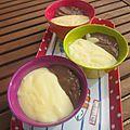 Petites crèmes vanille - chocolat (plus onctueuses)