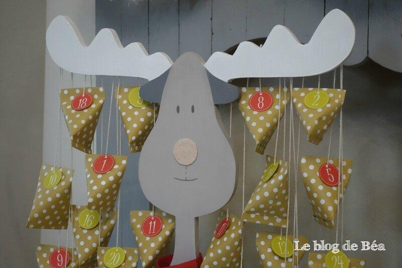 DIY calendrier renne de Noël en palette