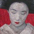 geisha rouge craquelée 500