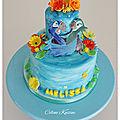 Gâteau rio - cake design - pâte à sucre