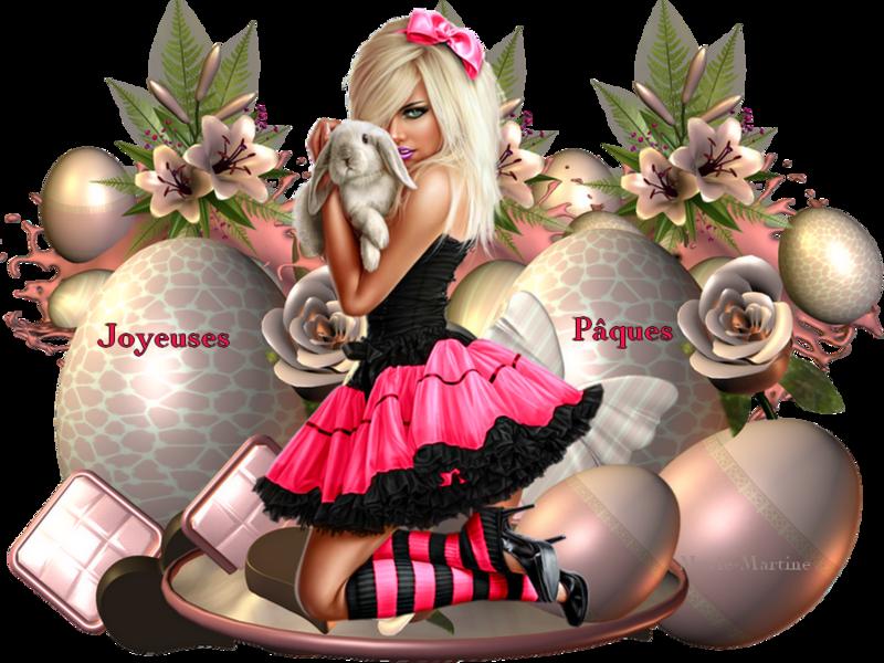 joyeuses pâques rose