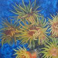 Madrépores - acryliques sur bois - 40x40cm -2003