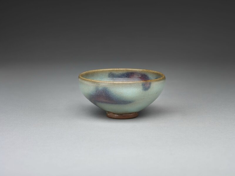 Small Circular Wine Bowl with Purple Splashes, Jin dynasty, 1115-1234, 12th-13th century