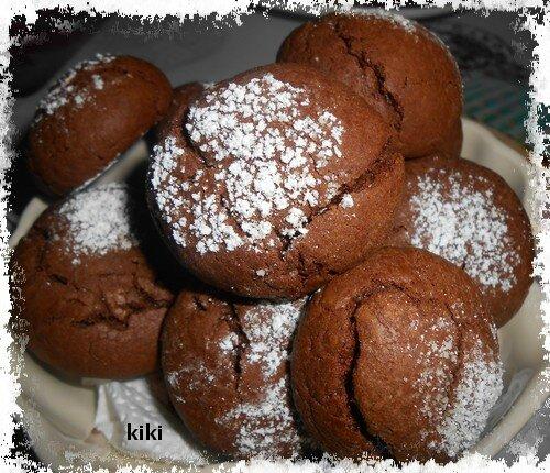 """Les crinkles """"des petits gâteaux moelleux au chocolat"""""""