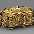 Casket of gold filigree and diamonds, goa, mid 17th century