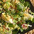 Salade composée entre hiver & printemps, histoire de pomme de terre et de cresson !