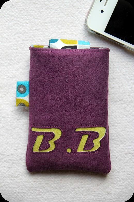etui téléphone BB-verso
