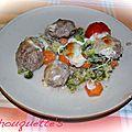 Tian de legumes aux boulettes de boeuf