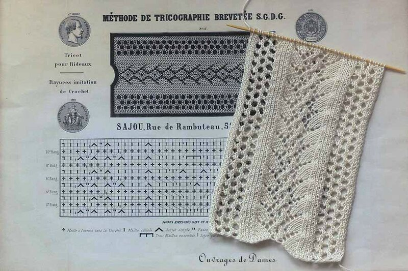 Tricographie dentelle