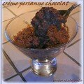 CREME PERSANE AU CHOCOLAT