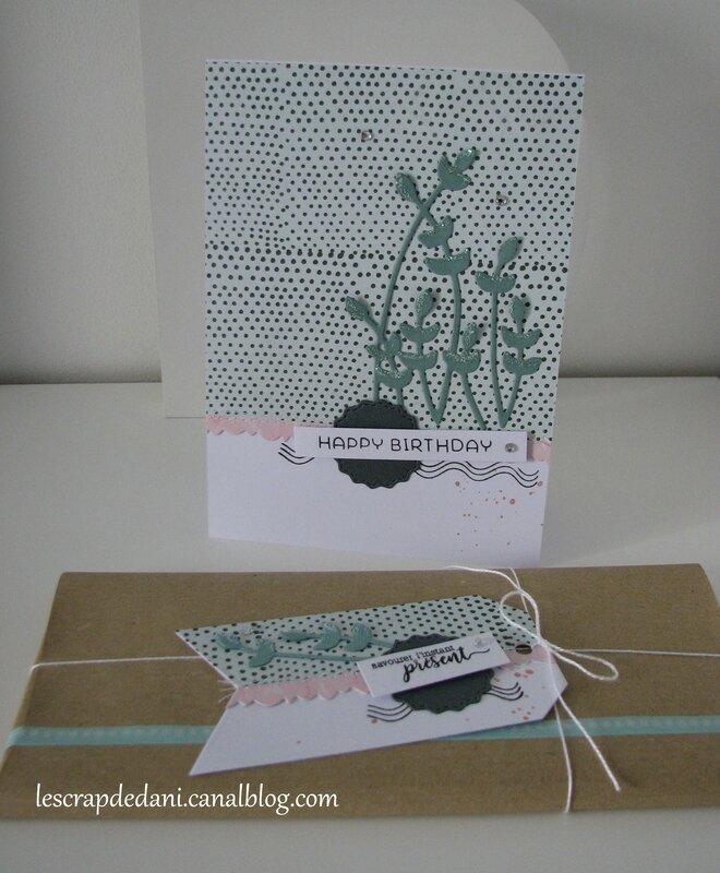 dani set carte étiquette cadeau Céladon