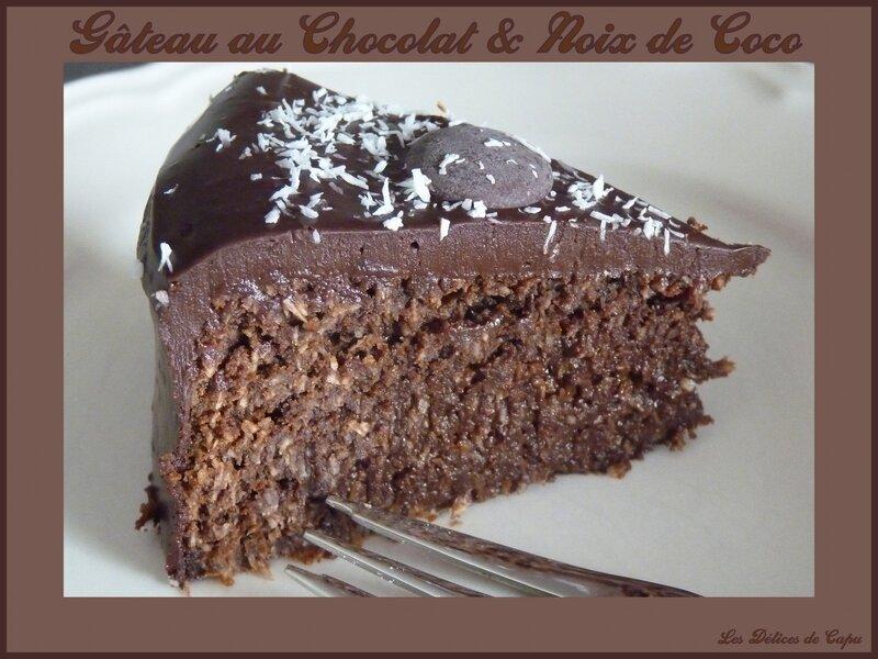 Gâteau au chocolat et noix de coco1