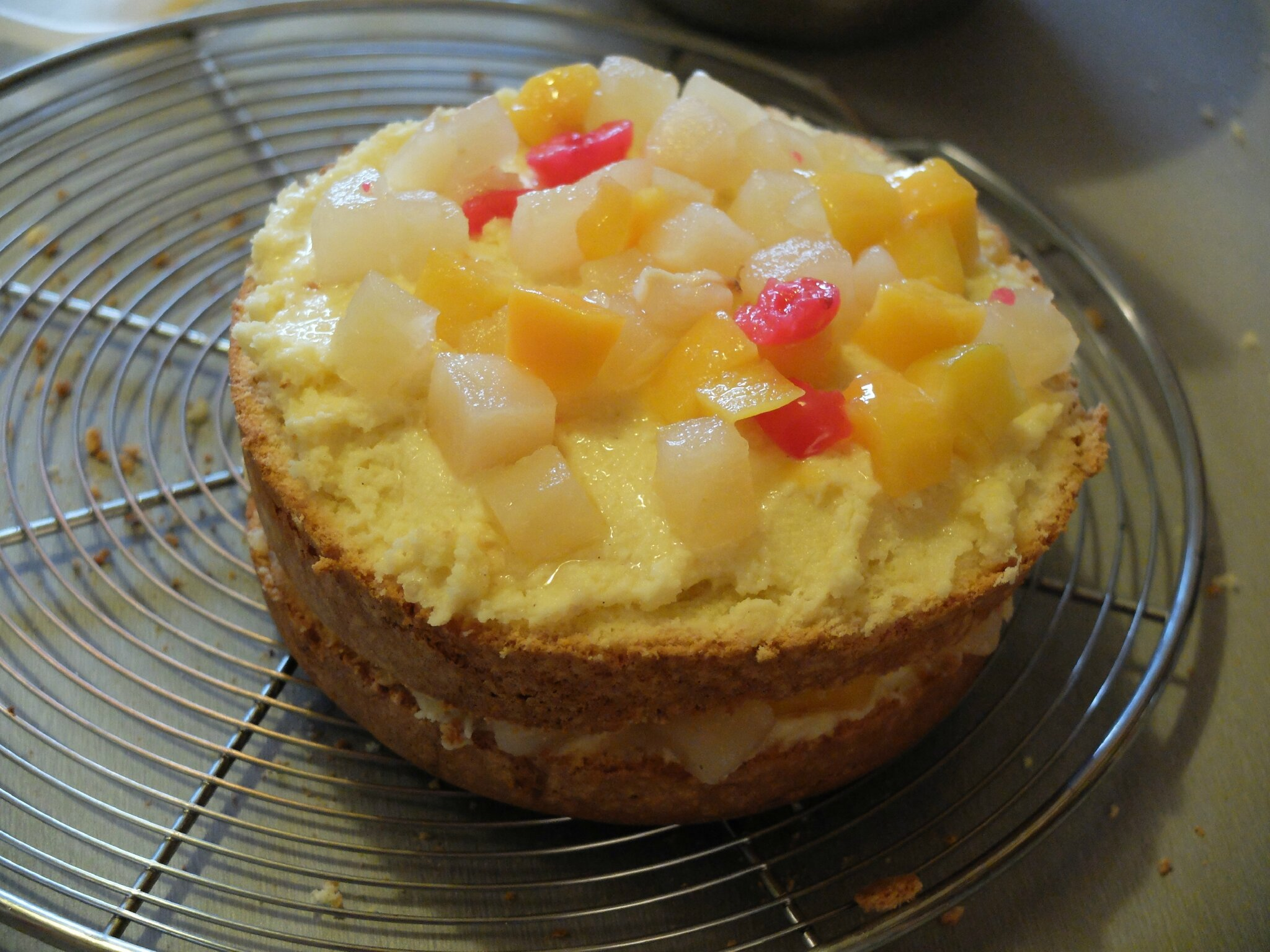 Gateau salade fruit