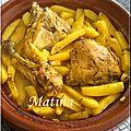 Tadjine de poulet et pommes de terre