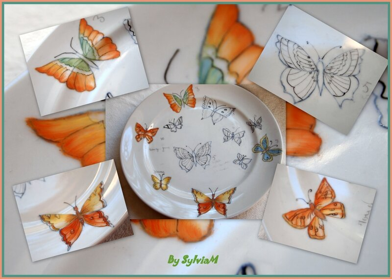 plat porcelaine papillon by sylviam