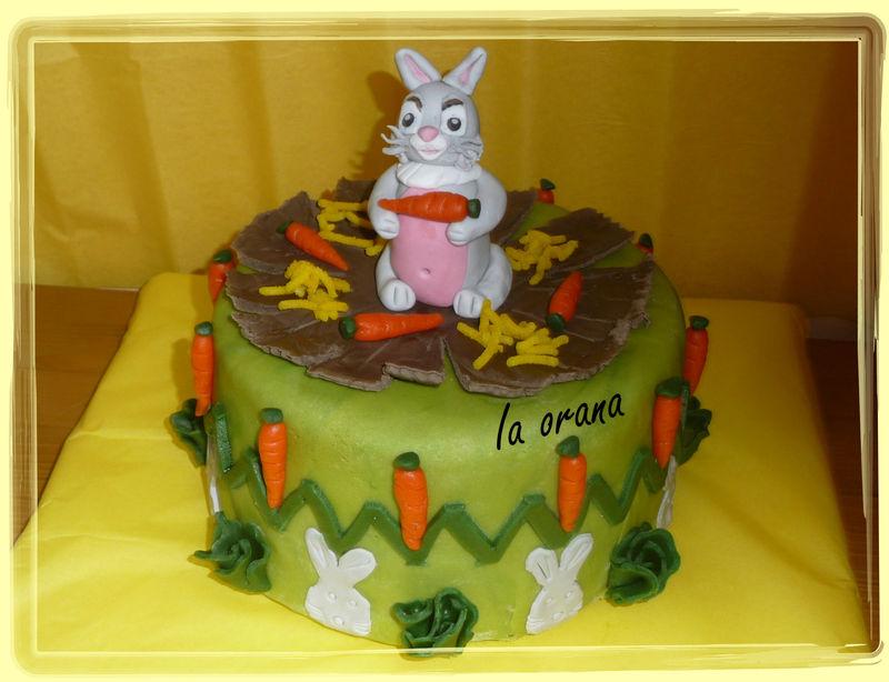 G teau lapin de p ques rabbit cake mes petits g teaux rigolos - Gateau pate a sucre paques ...