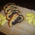 Roulé aux bonbons bananes et au nutella