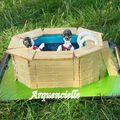 Gâteau piscine 3D vue dos