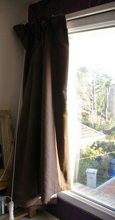 rideaux pliés