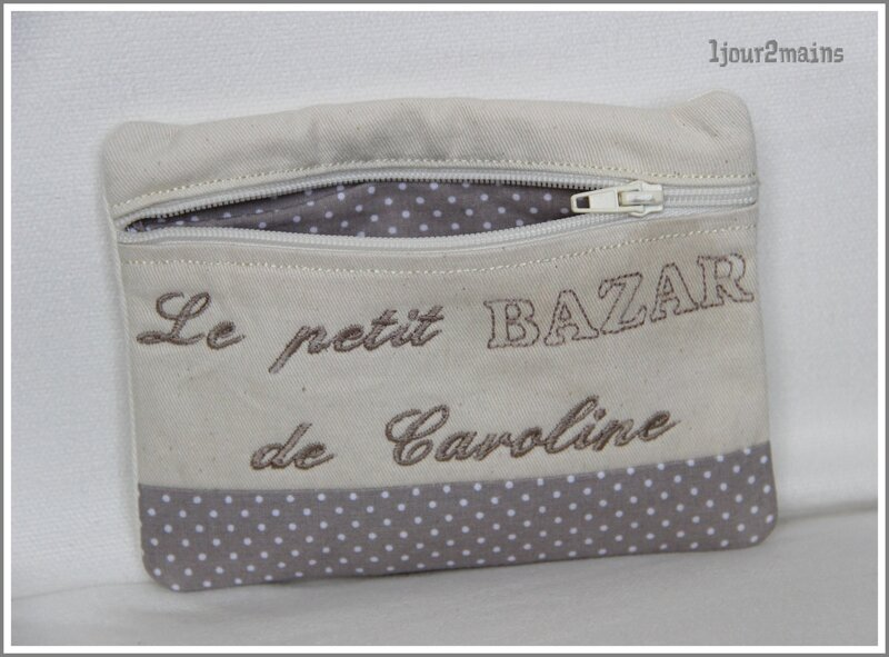 trousse zip caro