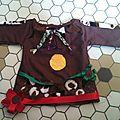 Robe / tunique marron pour le carnaval