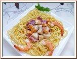 0359- spaghettis à la carbonara de st jacques